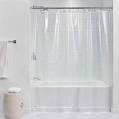 vinyl shower curtain clear - 9