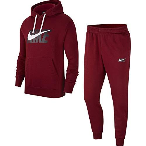 Nike Chándal Sportswear CE TRK Suit HD Fleece Burdeos S (Small)