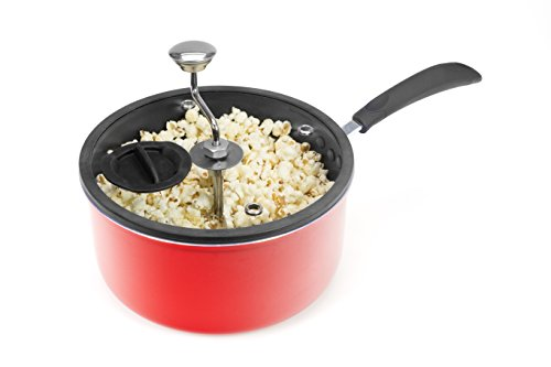 Great Price! Discontinued by Manufacturer Zippy Pop Stovetop Popcorn Popper with Glass Silicone Rimm...