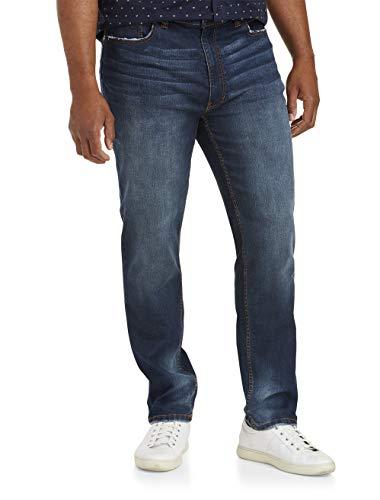 True Nation by DXL Big and Tall Taper Fit X-Stretch Jeans, Fall Indigo Blue, 46W X 32L