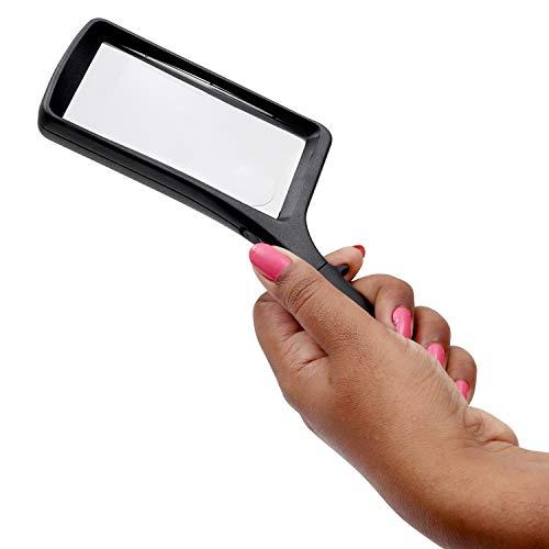 Leselupe 2X 6X Lupe mit LED Licht, Handlupe Vergrößrungglas für Senioren, Schmuck Lupe zum Lesen von Kleingedrucktem, Karten, Münzen, Briefmarken & Schmuck - 7