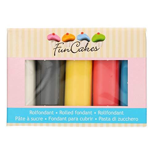 FunCakes Fondant Multipack Palette 5x100g (Primarios