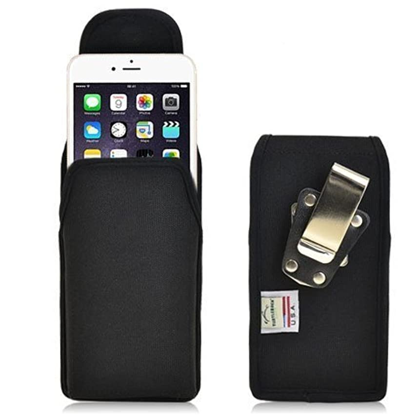 Turtleback Belt Clip Case Made for Applie iPhone 6 Plus (5.5) Black Vertical Holster Nylon Pouch with Heavy Duty Rotating Belt Clip Made in USA