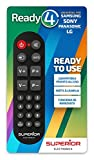 Superior Ready 4 - Telecomando universale copatibile con tutte le TV e SMART TV LG/SAMSUNG/SONY/PANASONIC