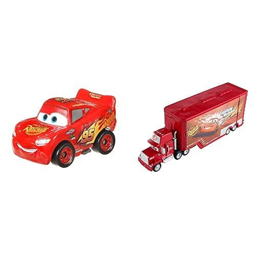 Disney Cars, Mini Assortimento (GKD78) + Set 3 in 1 Mega Salto Mack Giocattolo (DVF39)