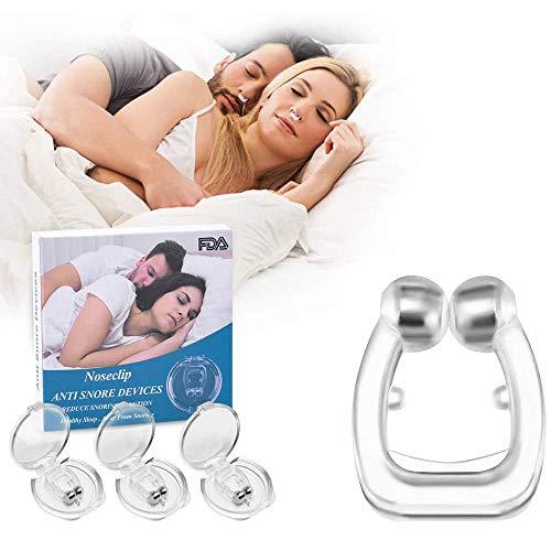 Schnarchstopper, Dweyka 3 Stück Anti Schnarch Nasenclip Magnetisch Nasenklammer gegen Schnarchen Nasenspreizer aus Weiches Silikon für natürlichen komfortablen Schlaf