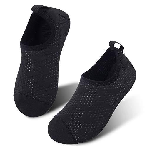 JIASUQI Kids Boys Outdoor Pool Swimming Walking Water Shoes for Aerobics Dot Black US 4-4.5 M Big Kid