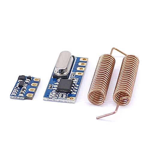 Rljjcs1163 10 stücke 433MHz Radio Transceiver Kit RF-Sender Empfängermodul + 20pcs Frühlingsantennen Open-Smart for Arduino - Produkte, die mit vorgeschriebenen Arduino-Boards zusammenarbeiten Rljjcs1