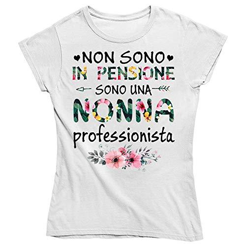 Vulfire Maglietta Donna Non Sono in Pensione (Bianco, M)