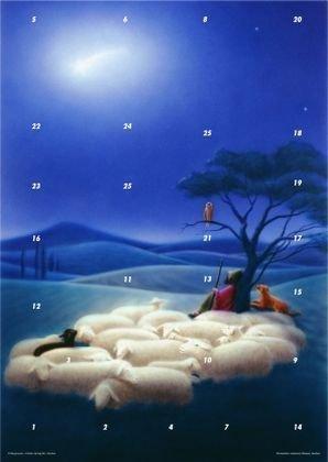Auch die Tiere folgen dem Stern: Fensterbild-Adventskalender mit Begleitheft