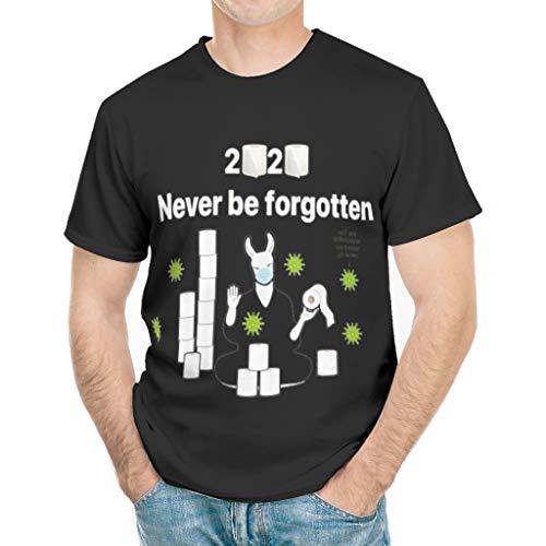 AVLVIA Funny Toilet Paper T-Shirt 2020 Never be Forgotten Corona-Virus Joke Toilet Paper T-Shirt