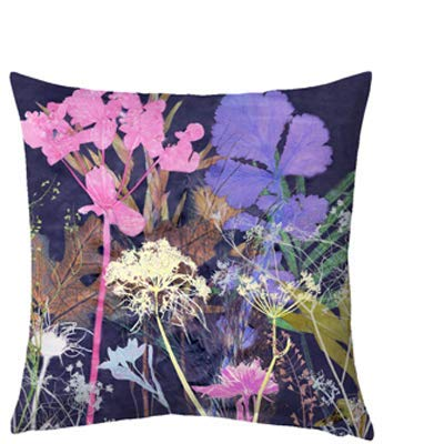 Gillian Arnold Felicity Design, Donker Bloemenprint Slaapbank/Vloerkussen (45cm of 70cm), Handgemaakt Huisdecoratie