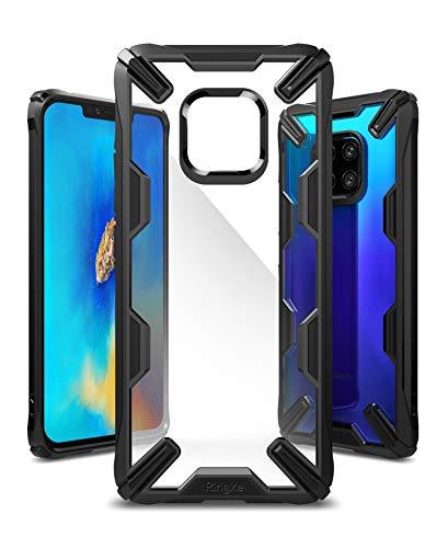 Ringke Fusion-X für Huawei Mate 20 Pro Hülle, Transparente Rückseite Cover mit TPU Stoßfest Flexibel Rahmen Schutzhülle - Schwarz