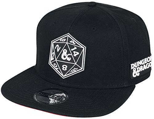 Dungeons and Dragons Würfel Männer Cap schwarz one Size 100% Baumwolle Fan-Merch, Gaming, Tabletop