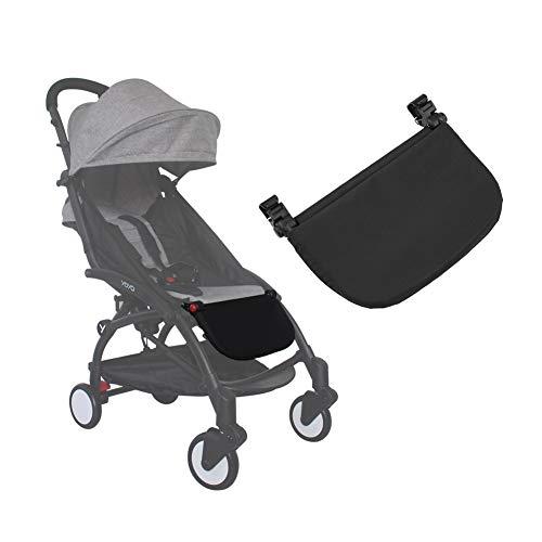 21cm Reposapiés para cochecito de bebé, Reposapiés Universal Reposapiés Pedal del asiento extendido Soporte de pie Accesorio para YOYA VOVO Cochecito de bebé(Black)