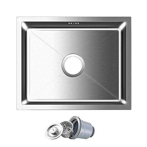Auralum® 80 * 45cm Fregadero De Cocina De Acero Inoxidable