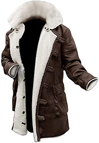 Decrum Brown Leather Trench Coat Mens Jacket [1600227] | Bne PU, 3XL