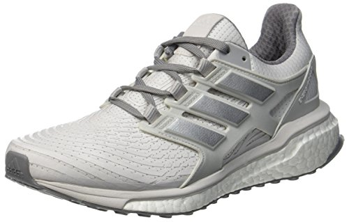 Adidas Herren Energy Boost Laufschuhe, Mehrfarbig (Ftwr White/silver Met./grey One F17) , 42 EU