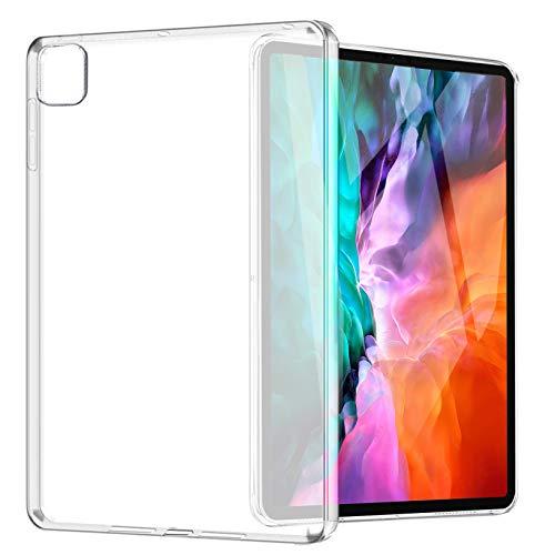 """Yoowei Cover Compatibile con iPad PRO 12.9"""" (4a Generazione, Modello 2020) Custodia Posteriore Traslucida in TPU Flessibile Silicone Ultra Sottile e Leggera Caso"""