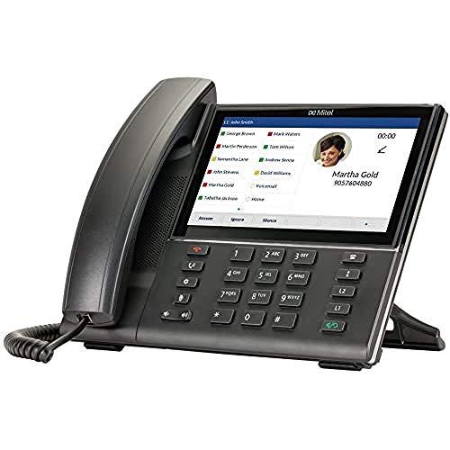 Mitel 6873 SIP Negro Identificador de Llamadas - Teléfono (Terminal con conexión por Cable, Altavoz, Identificador de Llamadas, Negro)