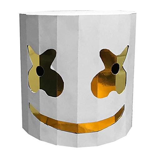 Foxmask Nest Addobbi Halloween Mascherafacciale Copricapo Centinaia di DJ Marshmallow Maschera Stampo di Carta Fatto a Mano Musica Festival Atmosfera Puntelli da tiro @ A228