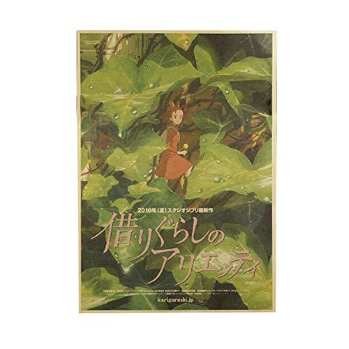 Haushele OFD Japanische Anime Hayao Miyazaki Anime Tonari no Totoro Howl's Moving Castle 風立ちぬ Poster Kollektion Totoro Poster Dekoration Cafe Bar Poster(H05)