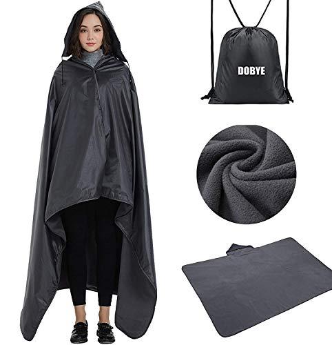 cheap Dobye Outdoor Stadium Blanket, Waterproof Fleece Blanket, Windproof Hooded Blanket …