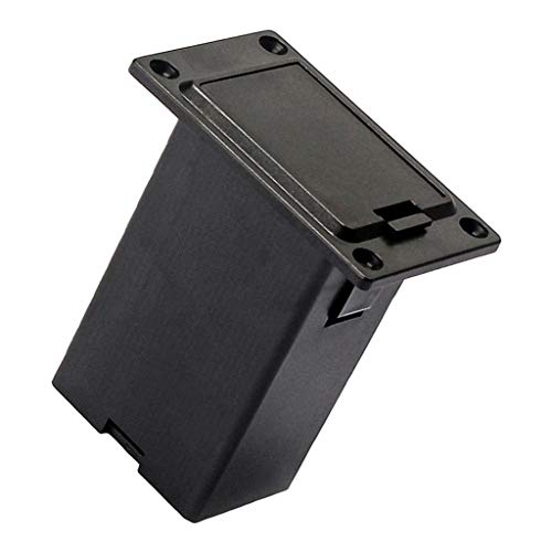 H HILABEE 9V Batteriefach 9V Volt Batteriefachabdeckung Gitarrenbass Tonabnehmer
