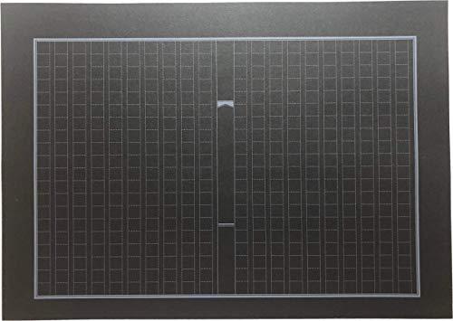 黒い原稿用紙 B5 400字詰め 20x20 縦書 (30枚)