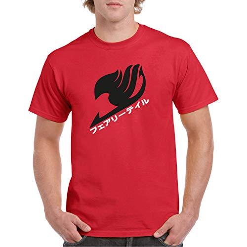 Natsu Magic - Camiseta Manga Corta (Rojo, L)