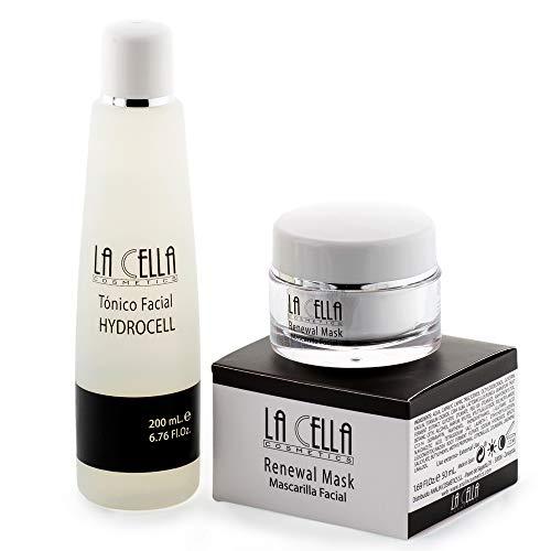 Mascarilla Facial hidratante para puntos negros + Tónico facial para todo tipo de pieles. Antiedad Antiarrugas/Pack completo limpieza facial