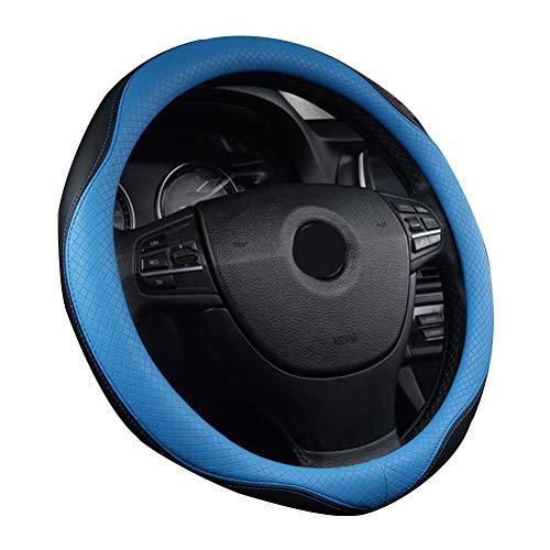 Couvre volant en cuir microfibre Couvre-volant universel antidérapant pour homme Bleu