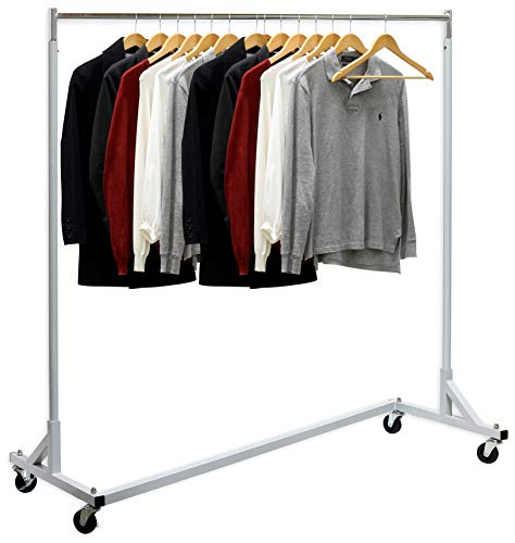 Simple Houseware Industrial Grade Z-Base Garment Rack, 400lb Load with 62' Extra Long bar