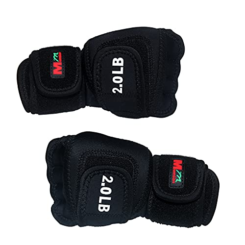 Weighted Gloves 4lb(2lb Each), Fitness Soft Iron Gloves Sandbag Weight Bearing Training Gloves with Wrist Support for Gym Boxing, Cross Training