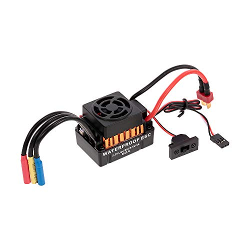 Goolsky HOBBYFANS 60A Brushless 2-3S ESC mit BEC für 1:10 TRAXXAS RC Auto Offroad Crawler Buggy Monster