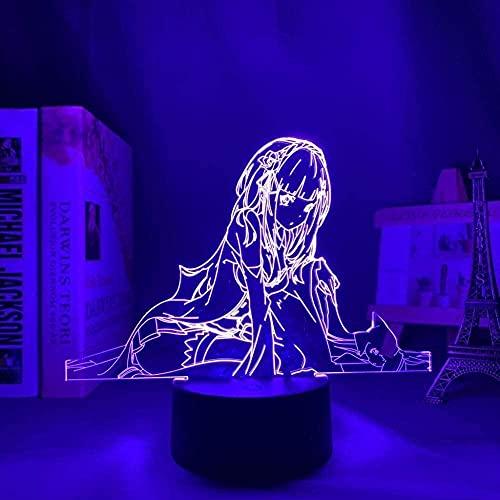 3D ilusión anime lámpara tokio ghoul ken kaneki para dormitorio decoración noche regalo cumpleaños acrílico led noche luz Tokio Ghoul 7 colores