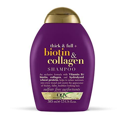 OGX Biotin & Collagen Hair Thickening Sulfate Free Shampoo, 385 ml