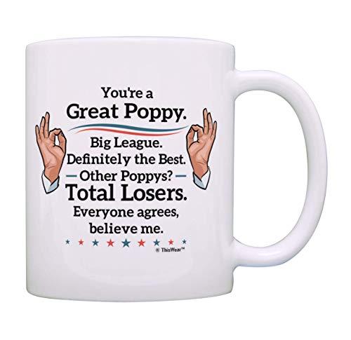 Regalos políticos divertidos Eres una gran amapola Créeme Regalos de cumpleaños de amapola Taza de café Taza de té Blanco
