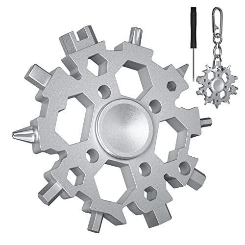 Snowflake Multitool,Snowflake Tool 22-in-1 with Fidget Spinners Is A Christmas Thanksgiving Day Gift...