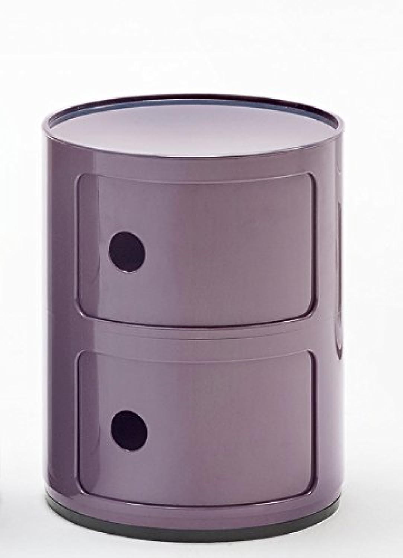 Kartell Modular 0496620, ABS, Purple, 32 x 32 x 40 cm