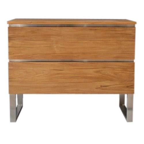 Waschbeckenunterschrank Titiana Teak Massivholz Breite vom Unterschrank 105 cm