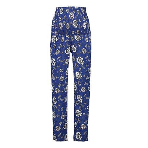 Queen mum Pants Woven AOP Singapore Pantalons-Maternité, Multicolore (Sodalite Blue P073), 38 (Taille Fabricant: Small) Femme