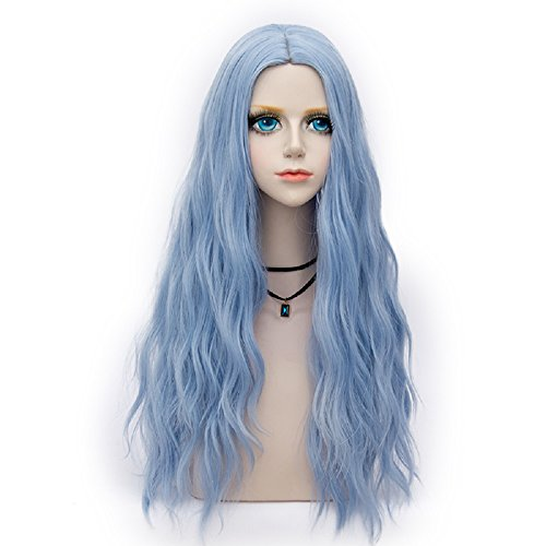 Probeauty Miracle &Forest Lady Collection Heat Resistant Synthetic Wigs Long Curly Women Cosplay Wig (70cm, Sky Blue F29)