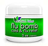Herbal Mana® Flu Bomb Cream - Boost Immune System 100% Natural Anti Virus, Essential Oils for Cough Cold + Vitamins for Immune System Oregano On Thieves Guard Essential Oils, Relieve Cough Cold