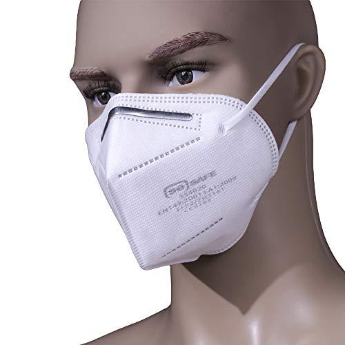 Mundschutz Maske FFP2 perfekt für Mund- und Nasenschutz Schutzmaske Atemschutzmaske Atemmaske Einwegmaske 4-lagig CE Zertifiziert (10) - 2