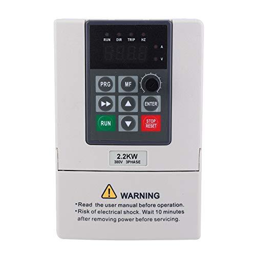 Variateur de fréquence, 380V 2.2KW VFD Variateur de fréquence variable pour le contrôle de vitesse du moteur Sortie triphasée, convertisseur de commande numérique par ordinateur de fréquence