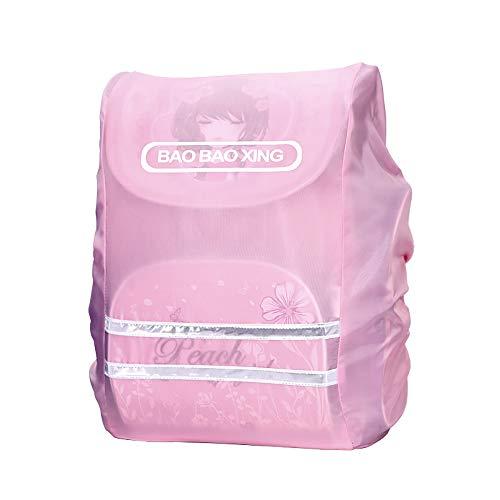 Mochila rosa Funda impermeable para mochilas escolares Chica Funda de mochila con rayas reflectantes para la escuela correr senderismo acampar Ciclismo actividades al aire libre
