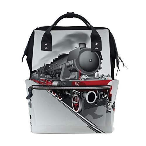 Spoorweg Trein Luier Rugzak Tassen Gepersonaliseerde Rugzak voor Moeder Meisje Vrouwen School Reizen Wandeltas Laptop Baby Tas