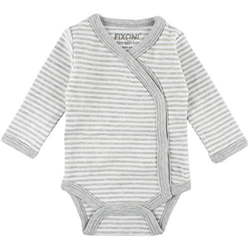 Fixoni Born Wrapover Combinaison, Gris (Light Grey Melange 01-82), 52 (Taille Fabricant: 50) Mixte bébé