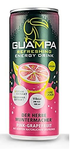 Guampa Energy Drink inkl. Pfand - Geschmacksrichtung Pink Grapefruit - ohne Zucker & wenig Kalorien!